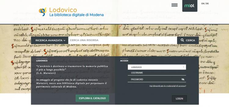 Lodovico: La Digital Library del DHMORE
